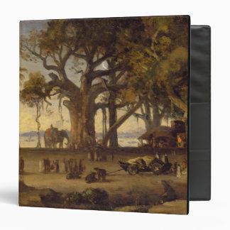 Moonlit Scene of Indian Figures and Elephants amon Binder