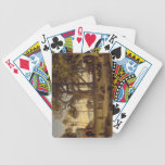 Moonlit Scene of Indian Figures and Elephants amon Bicycle Poker Deck