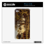 Moonlit Scene of Indian Figures and Elephants amon Skin For The iPhone 4S