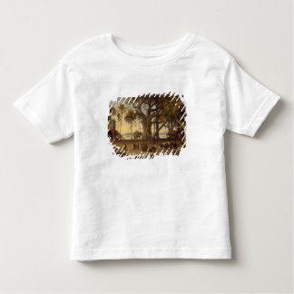 Moonlit Scene of Indian Figures and Elephants amon Toddler T-shirt