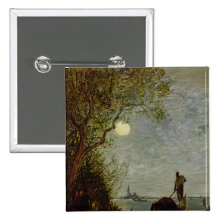 Moonlit Scene with Gondola Buttons