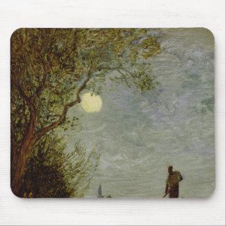 Moonlit Scene with Gondola Mouse Pad