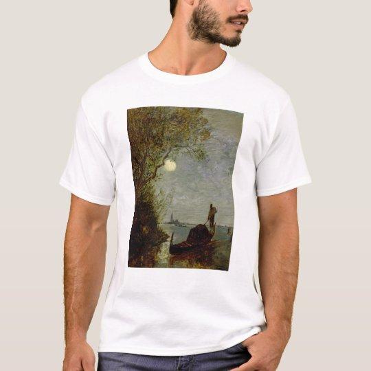 Moonlit Scene with Gondola T-Shirt