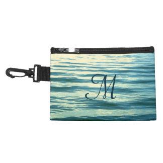 Moonlit Sea Monogrammed Accessories Bag
