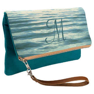 Moonlit Sea Monogrammed Clutch