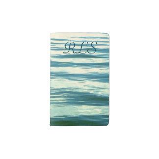 Moonlit Sea Monogrammed Pocket Moleskine Notebook Cover With Notebook