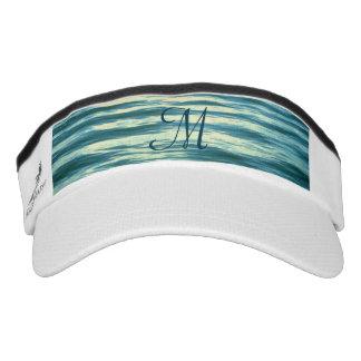 Moonlit Sea Monogrammed Visor