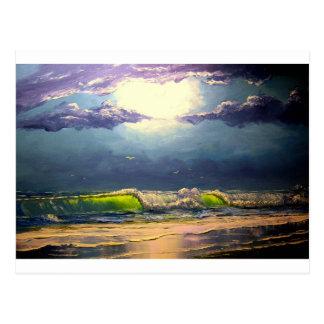 Moonlit Seascape Post Card