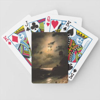 Moonlit Seascape With Shipwreck Bicycle Playing Cards