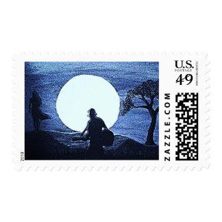 Moonlit Serenade Postage Stamps