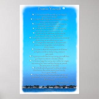 Moonlit Sky Optimist Creed Poster