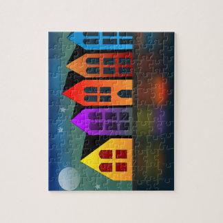 Moonlit Street Jigsaw Puzzle
