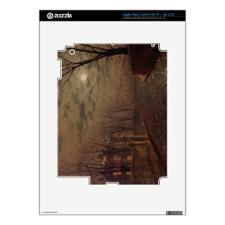 Moonlit Street Scene, 1882 (oil on canvas) iPad 3 Skin