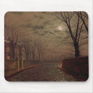 Moonlit Street Scene, 1882 (oil on canvas) Mouse Pad
