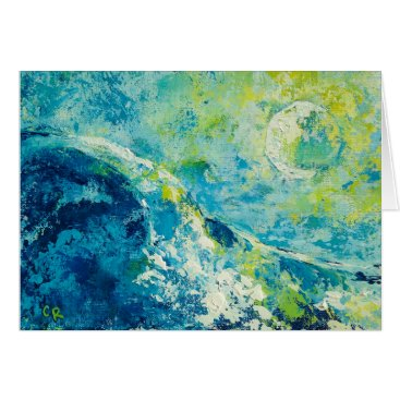 """TheClumsyFly """"Moonlit Surf"""" by Chris Rice Note Cards"""