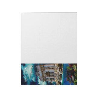 Moonlit Trevi Fountain Tropical Fantasy Memo Notepad