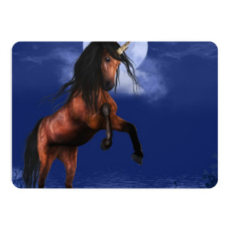 Moonlit Unicorn Card