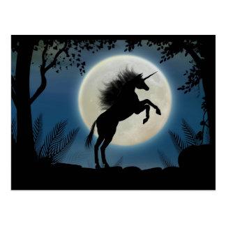 Moonlit Unicorn Postcard2 Postcard