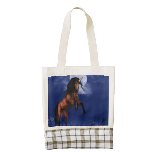 Moonlit Unicorn Zazzle HEART Tote Bag