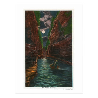 Moonlit View of the Flume Postcard