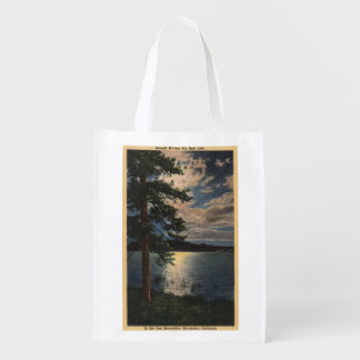 Moonlit View of the Lake Grocery Bag