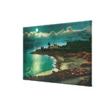 Moonlit view of the Vue de l'EauSanta Cruz, CA Gallery Wrap Canvas