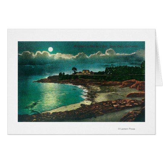Moonlit view of the Vue de l'EauSanta Cruz, CA Card
