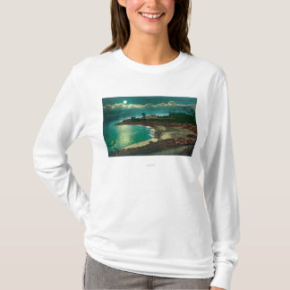 Moonlit view of the Vue de l'EauSanta Cruz, CA T-Shirt