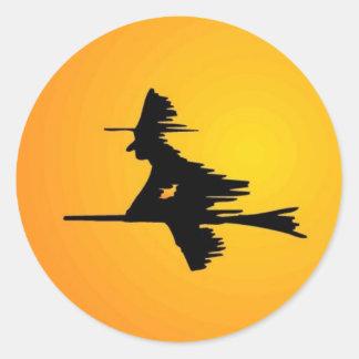 Moonlit Witch Classic Round Sticker