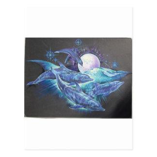 Moonlite Dolphins Postcard