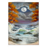 Moonlite Seascape Greeting Cards
