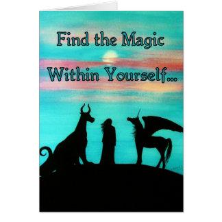 """MoonMyth """"encuentra la magia dentro de sí mismo """" Tarjeta De Felicitación"""