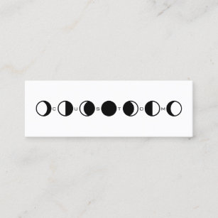 Moon phases business cards templates zazzle moonphrase cool modern moon phase mini business card colourmoves