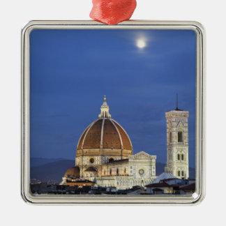 Moonrise and Florence Cathedral, Basilica di Metal Ornament