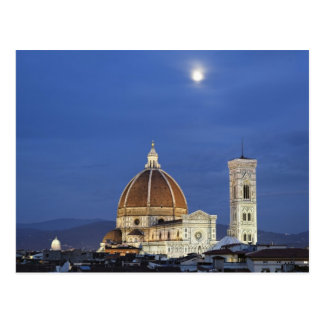 Moonrise and Florence Cathedral, Basilica di Postcard