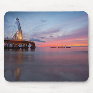 Moonrise And Sunset Mouse Pad
