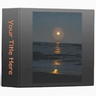 Moonrise at Diamond Shoals OBX NC 3 Ring Binder