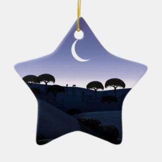 Moonrise Ceramic Ornament