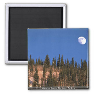 Moonrise, Dawson City, Yukon Territory Magnets