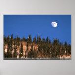 Moonrise, Dawson City, Yukon Territory Poster