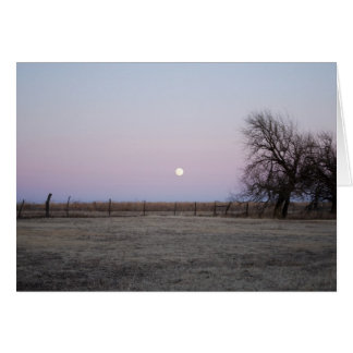 Moonrise in Kansas Card