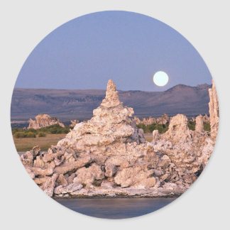 Moonrise, Mono Lake, California, U.S.A. Classic Round Sticker