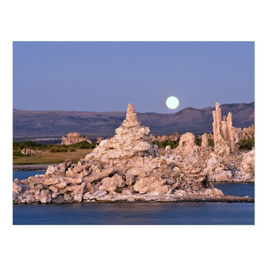 Moonrise, Mono Lake, California, U.S.A. Postcard