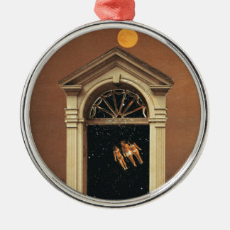 Moonrise on Colonial Mars Metal Ornament