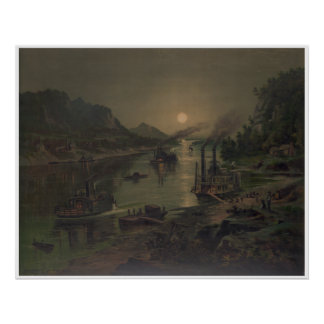 Moonrise on the Ohio Poster