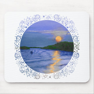 Moonrise on the River Mouse Pad