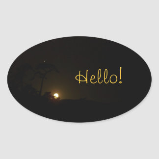 Moonrise Oval Sticker