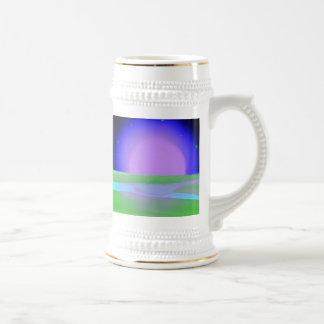 Moonrise Over Allon Artwork Gift Stein Coffee Mug