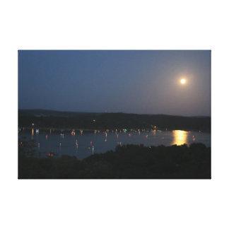 Moonrise Over Beaver Lake Canvas Print