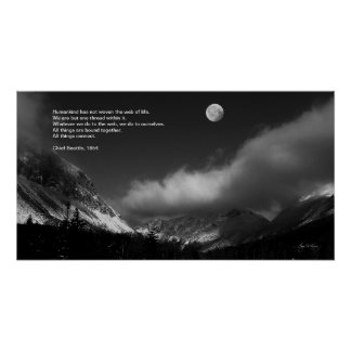 Moonrise over Franconia : Chief Seattle Poster